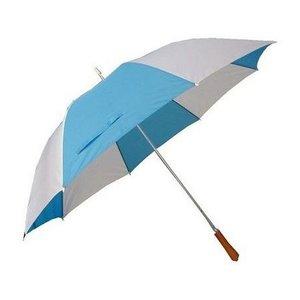 Golf Paraplu met Metalen Stang & Ergonomisch Handvat Blauw/Wit 96 cm