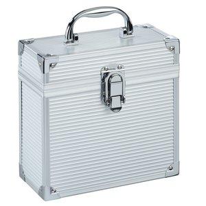 """Hama Vinylplaten-koffer Voor 7"""" Vinylplaten Alu-look Zilver"""