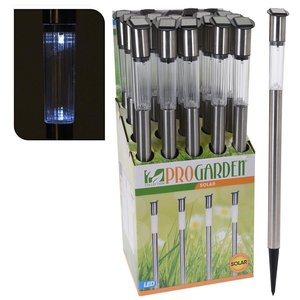 Pro Garden Solar LED Tuinlamp 3x70 cm RVS