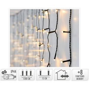 IJspegel verlichting - 360 LED - 12 meter - warm wit - 8 lichtfuncties